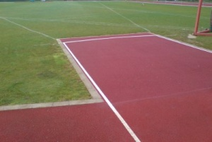 sports surface repair to javelin