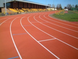 running track high pressure clean monkton stadium