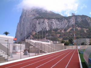 Gibraltar on running track